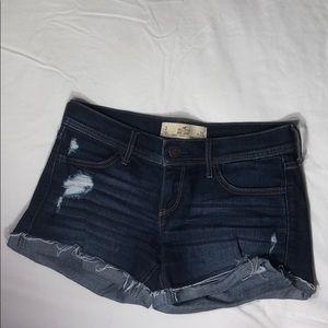 """Hollister Dark wash jean shorts ( midi 4"""" inseam)"""